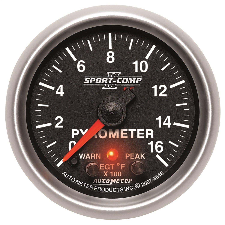 Auto Meter 3646 Sport-Comp PC Pyrometer Gauge