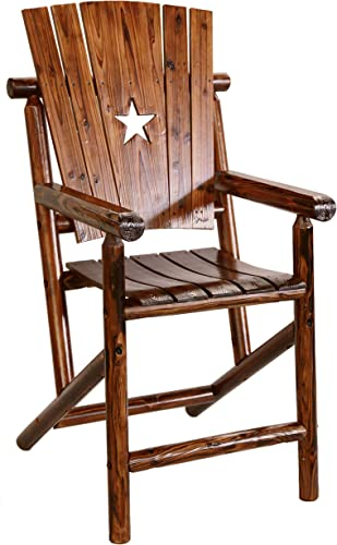 Leigh Country Bar Arm Chair with Star