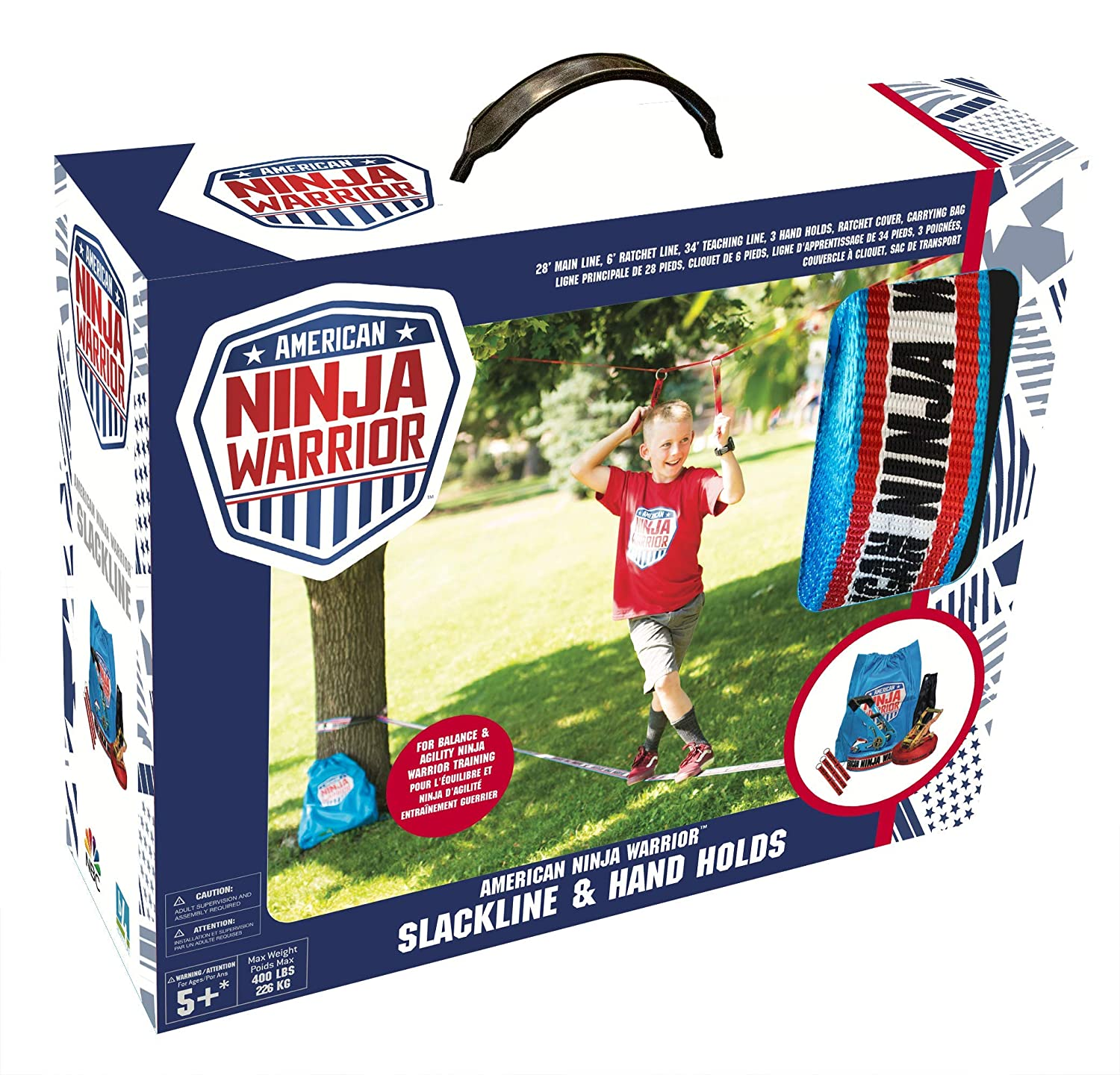 Amazon.com: American Ninja Warrior 34 Slackline with Hand ...