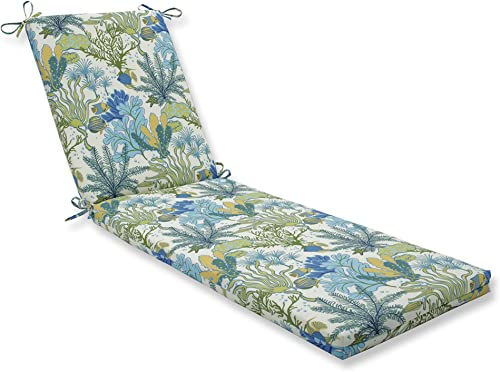 Pillow Perfect Outdoor Indoor Splish Splash Marina Chaise Lounge Cushion 80x23x3,Blue
