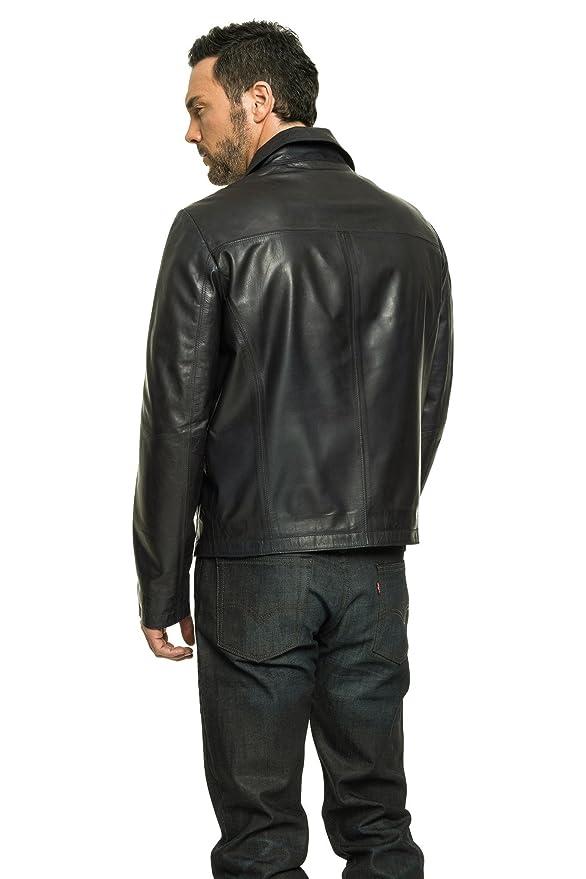 190d5f94c80 Regency Alfie Classic Harrington Lambskin Leather Jacket at Amazon Men s  Clothing store
