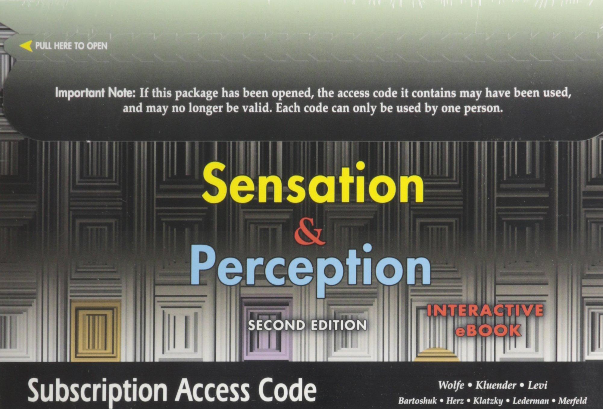Sensation And Perception Ebook