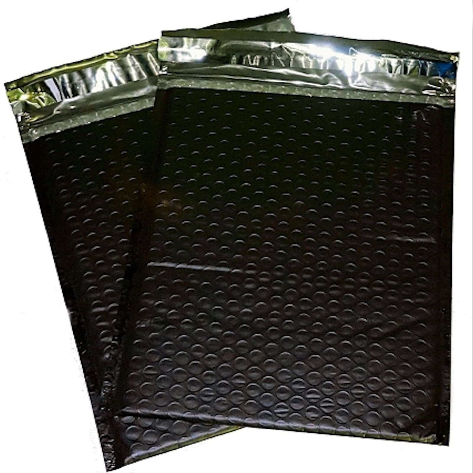 100 6x10 Black Poly Bubble Mailer Envelope Shipping Wrap Paper Mailing by Uneekmailers (Image #1)