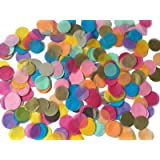 Fecedy Assorted Color Circles Tissue Paper Confetti 1 inch 5000pcs/pack