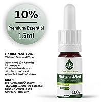Natura-Med 10% Premium Essential | 15ml - CB1 und CB2 Aktivator (10%) CBG (D) Hanf Öl Tropfen mit Extrakt