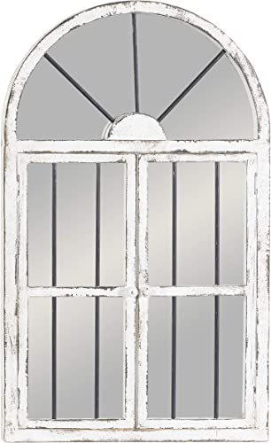 Deco 79 Wood Window Mirror, 42 by 25
