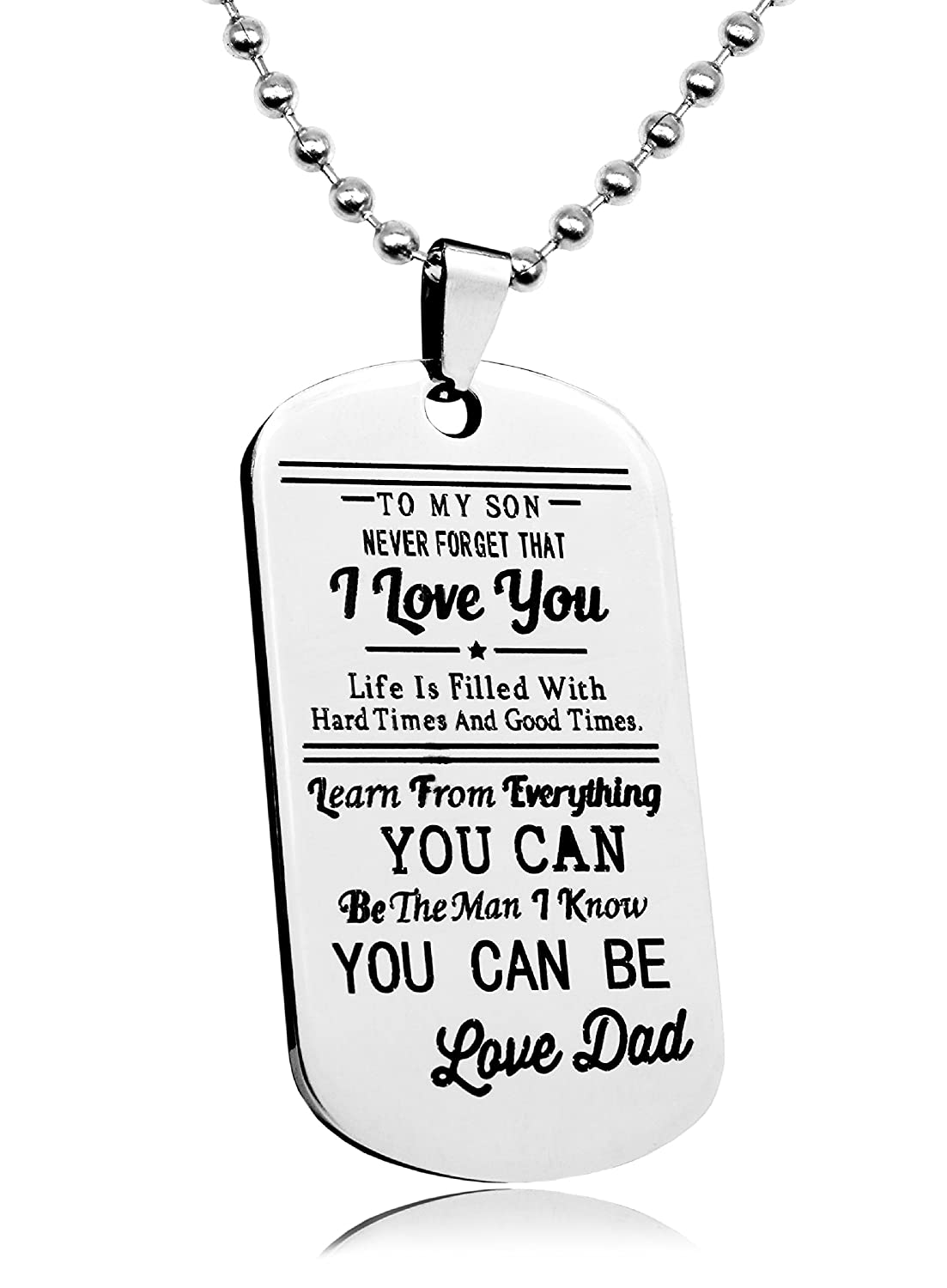 Basic House Dad//Mom To Son//Daughter Boys//Girls Jewelry Dog Tag Necklace Personalized Custom Military Dogtags Pendant
