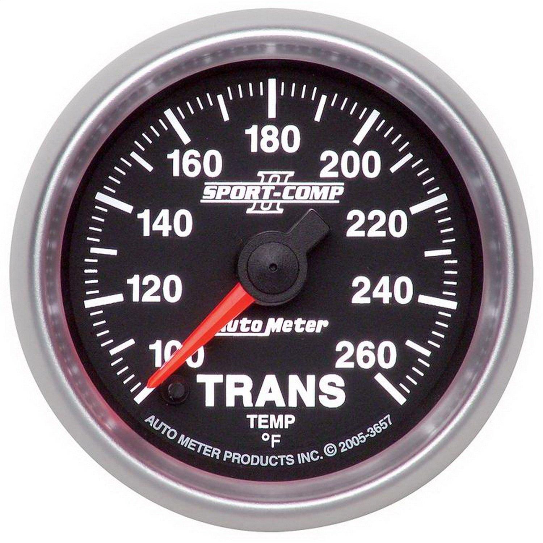 Auto Meter 3657 2-1/16'' 100- 260 F Full Sweep Electric Transmission Temperature Gauge