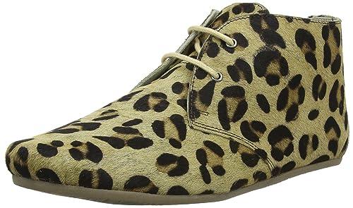 Gimlet Hairon Leather, Botines Para Mujer, Beige (Leopard Brown Black), 42 EU Maruti