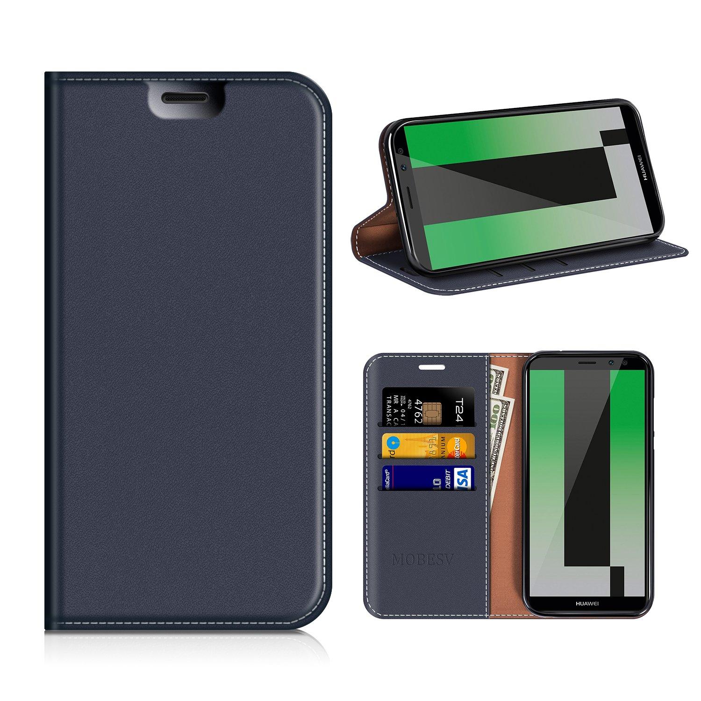 Funda Huawei Mate 10 Lite, funda de cuero Mobesv, funda de la tarjeta, función de soporte Huawei Mate 10 Lite - azul oscuro