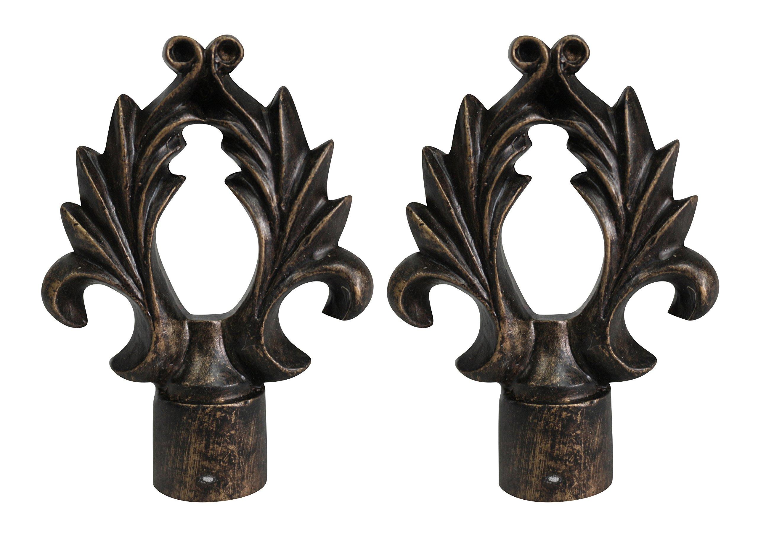 Urbanest Set of 2 Calvinia Lamp Finials, 2 5/8-inch Tall, Antique Bronze