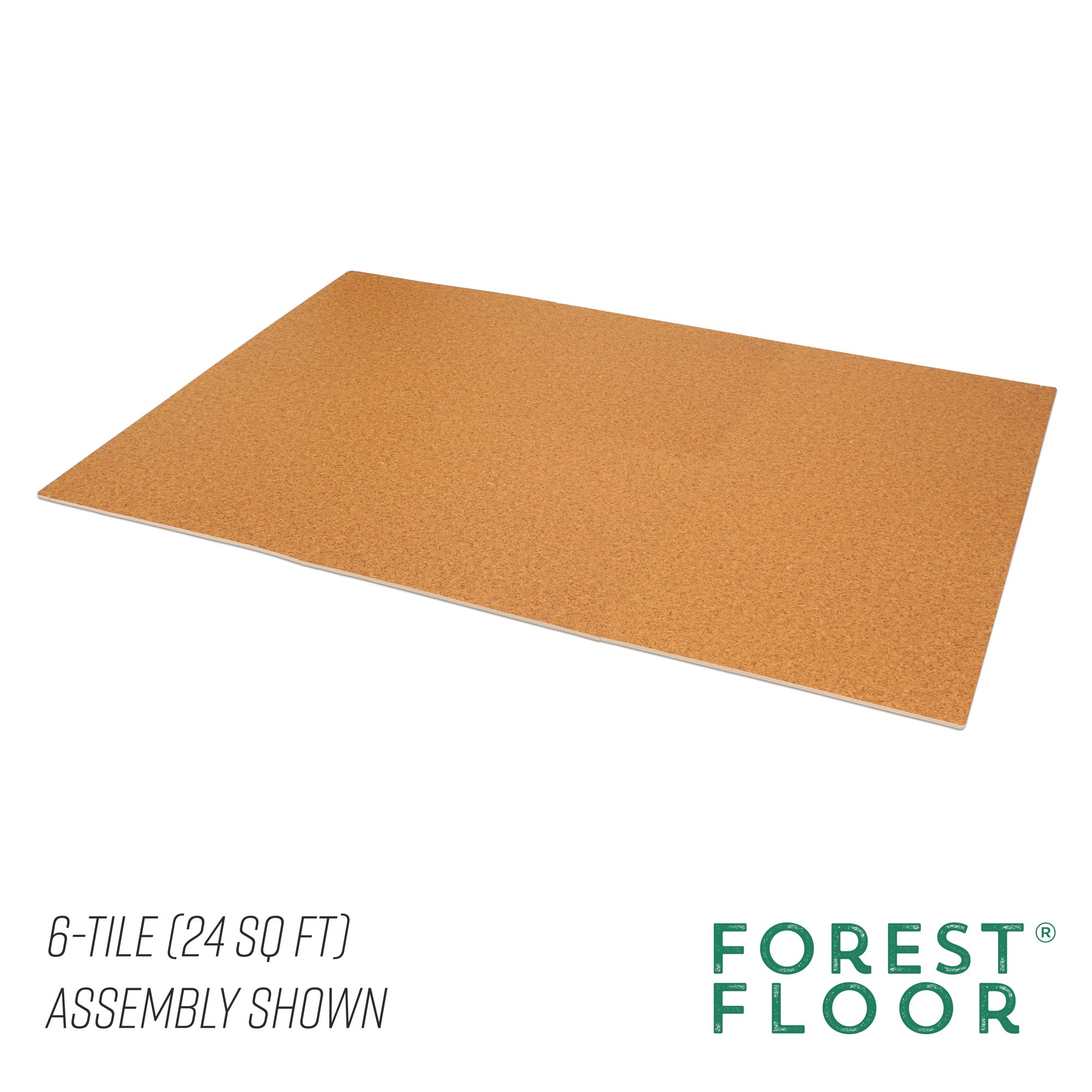 Forest Floor 3/8'' Thick Printed Wood Grain Interlocking Foam Floor Mats, 16 Sq Ft (4 Tiles), Light Cork by Forest Floor (Image #5)