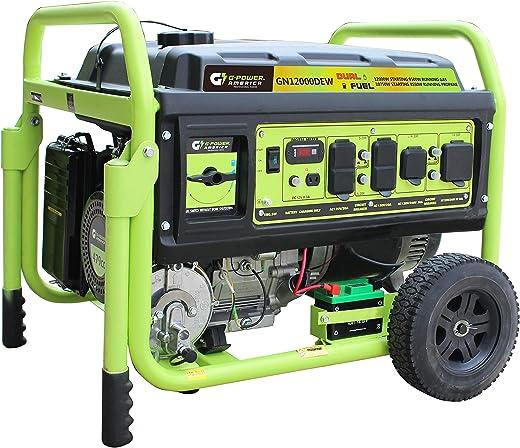 Green-Power America GN12000DEW Dual Fuel Generator-12,000 Watts Generator