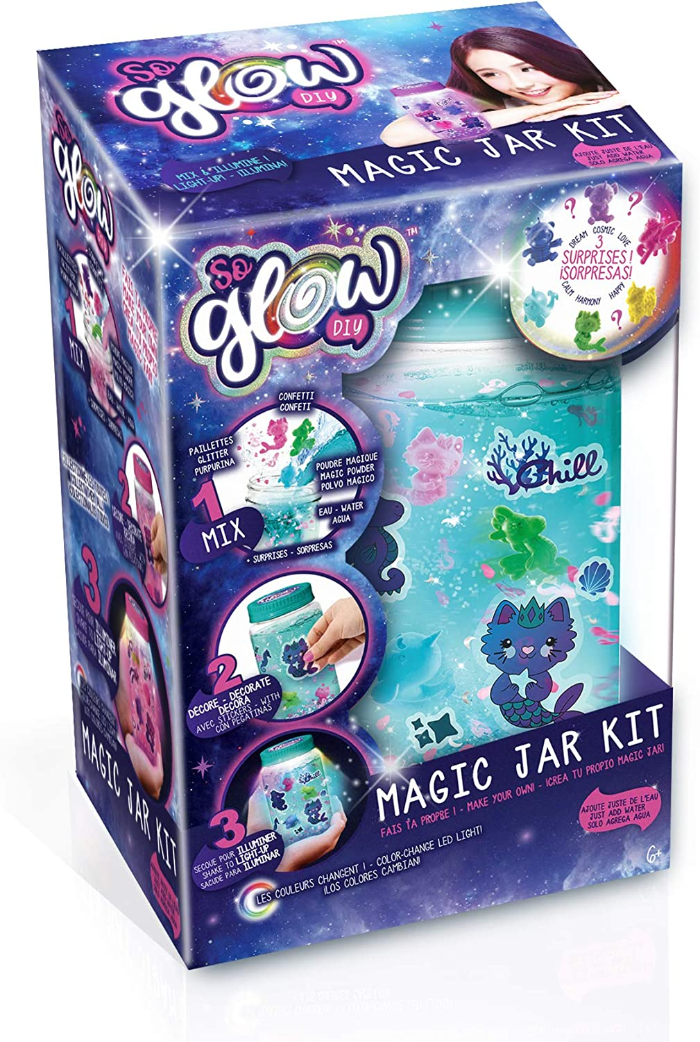 Canal Toys Kit de tarro So Glow DIY Magic Jar (botes de la calma), multicolor (SGD 002) , color/modelo surtido: Amazon.es: Juguetes y juegos