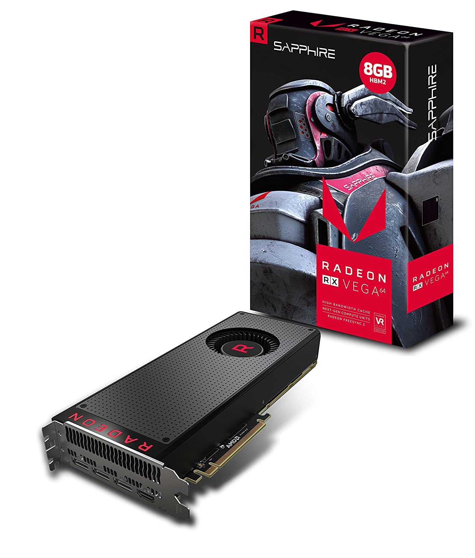 Sapphire Radeon RX Vega 64 8GB HBM2 HDMI / Triple DP PCI-E Graphics Card 21275-02-20G