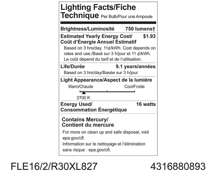 Amazon.com: GE Lighting 80893 Smart de energía CFL 15-watt ...