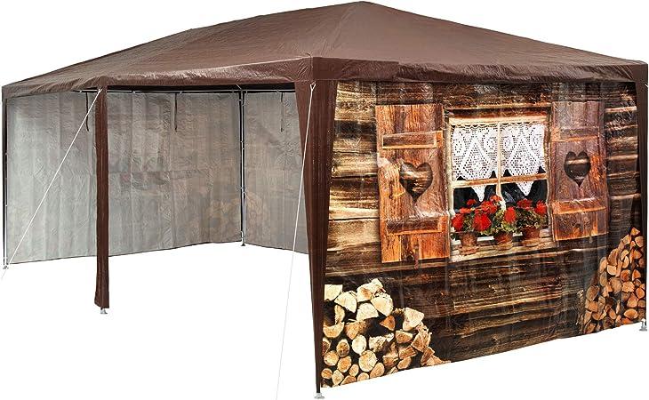 TecTake 402985 - Pabellón 3x6m, Cenador para Eventos y Fiestas, Estilo Cabaña de Esquí, Refugio Alpino