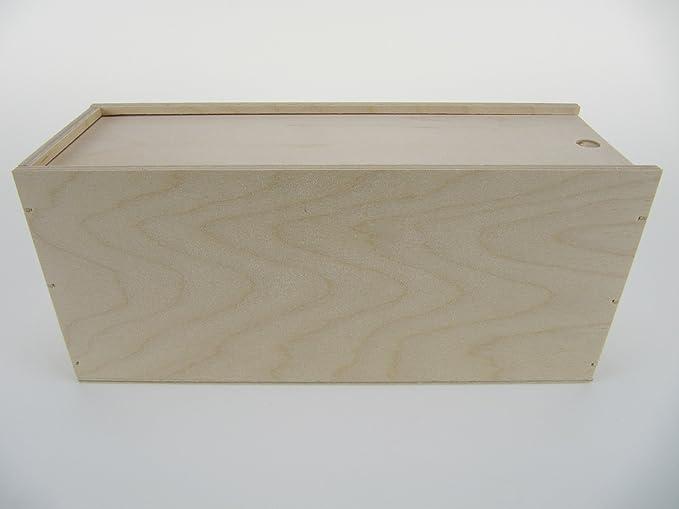 Caja de madera con tapa deslizante, como regalo del paquete o guardar: Amazon.es: Bricolaje y herramientas