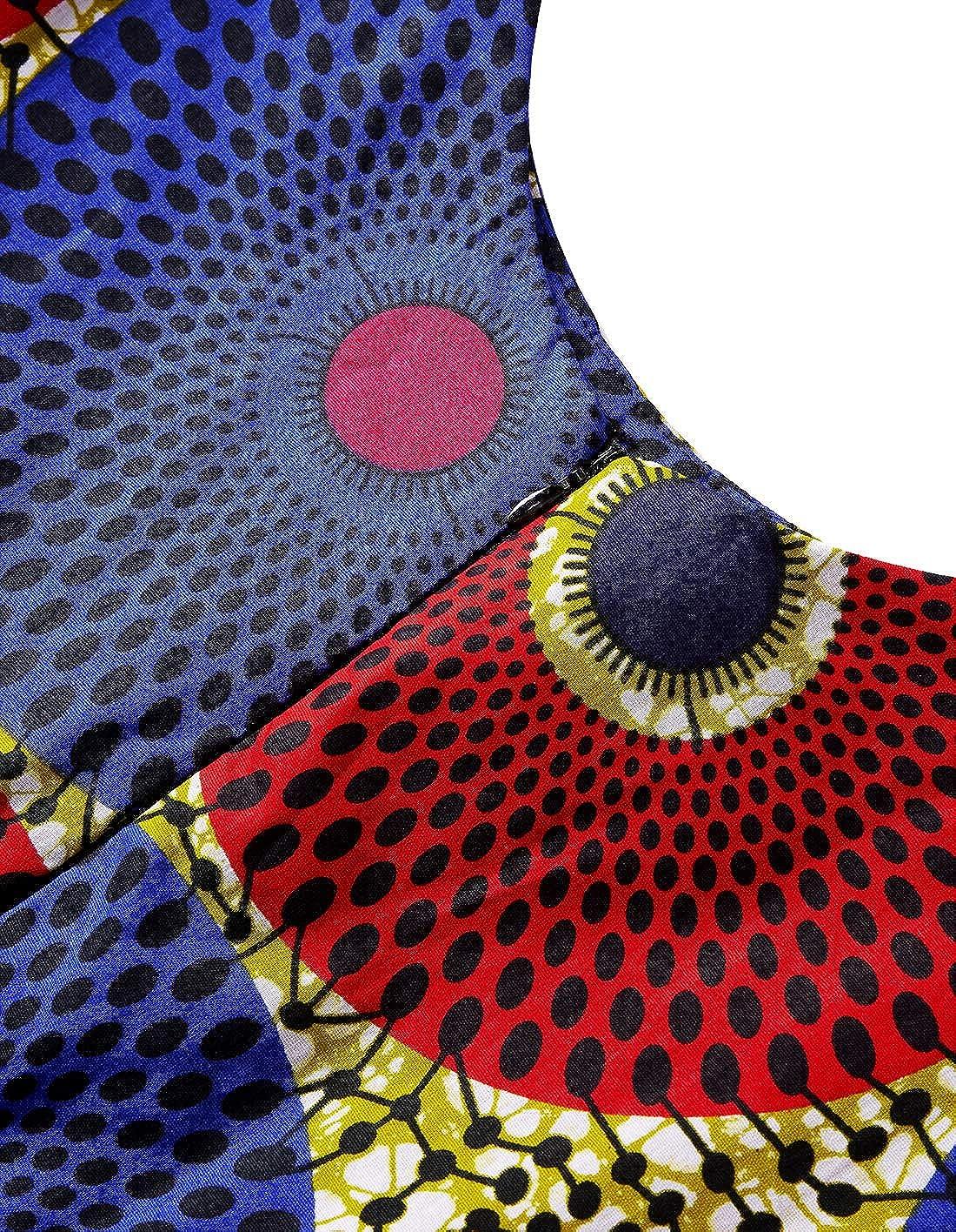 HongyuAmy Women African Print Dress Ankara Dresses Evening Dress