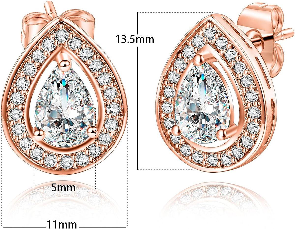 5mm Diamante Crystal Stud Earrings Wedding Prom Bridesmaid Bride Classic NEW