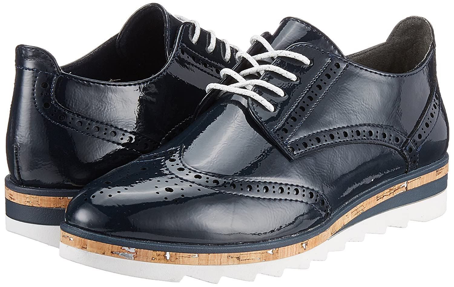 Marco Tozzi 23715, Scarpe Stringate Brouge Patent) Donna  Blu (Navy Patent) Brouge ad9ba8