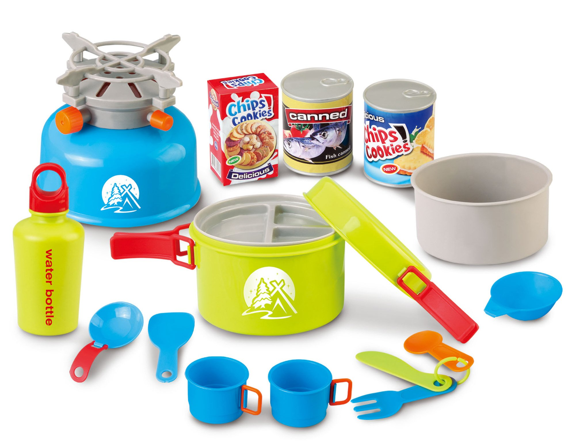 Berry Toys Little Explorer Camping Cooker Play Set (15-Piece)