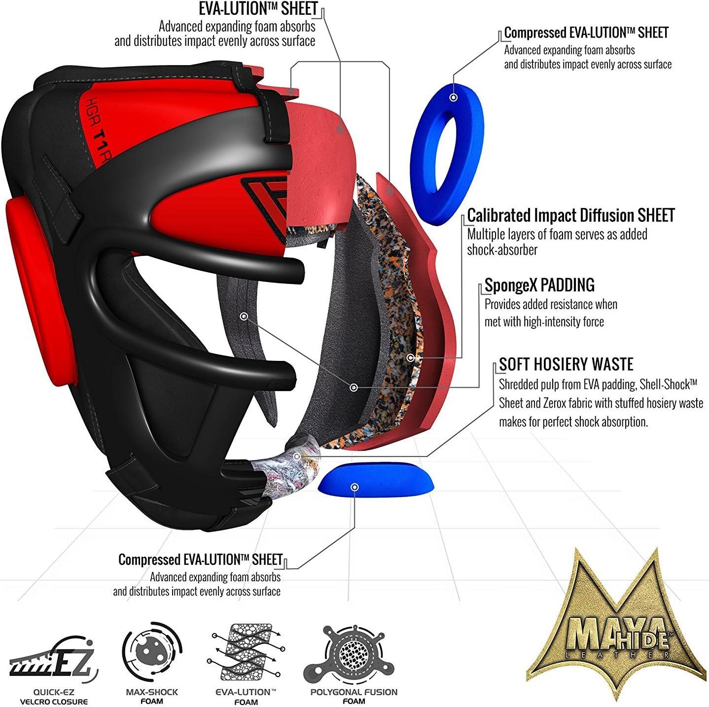 RDX Casque De Boxe MMA Grille Protection T/ête Muay Thai Entra/înement Arts Martiaux