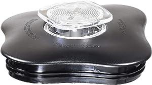 Blender Lid and Center Cap for Clover Leaf Shaped Oster Blender Jars Black