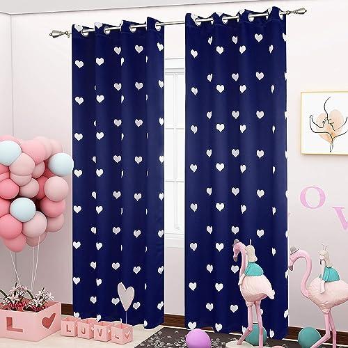LORDTEX Love Star Print Blackout Curtains