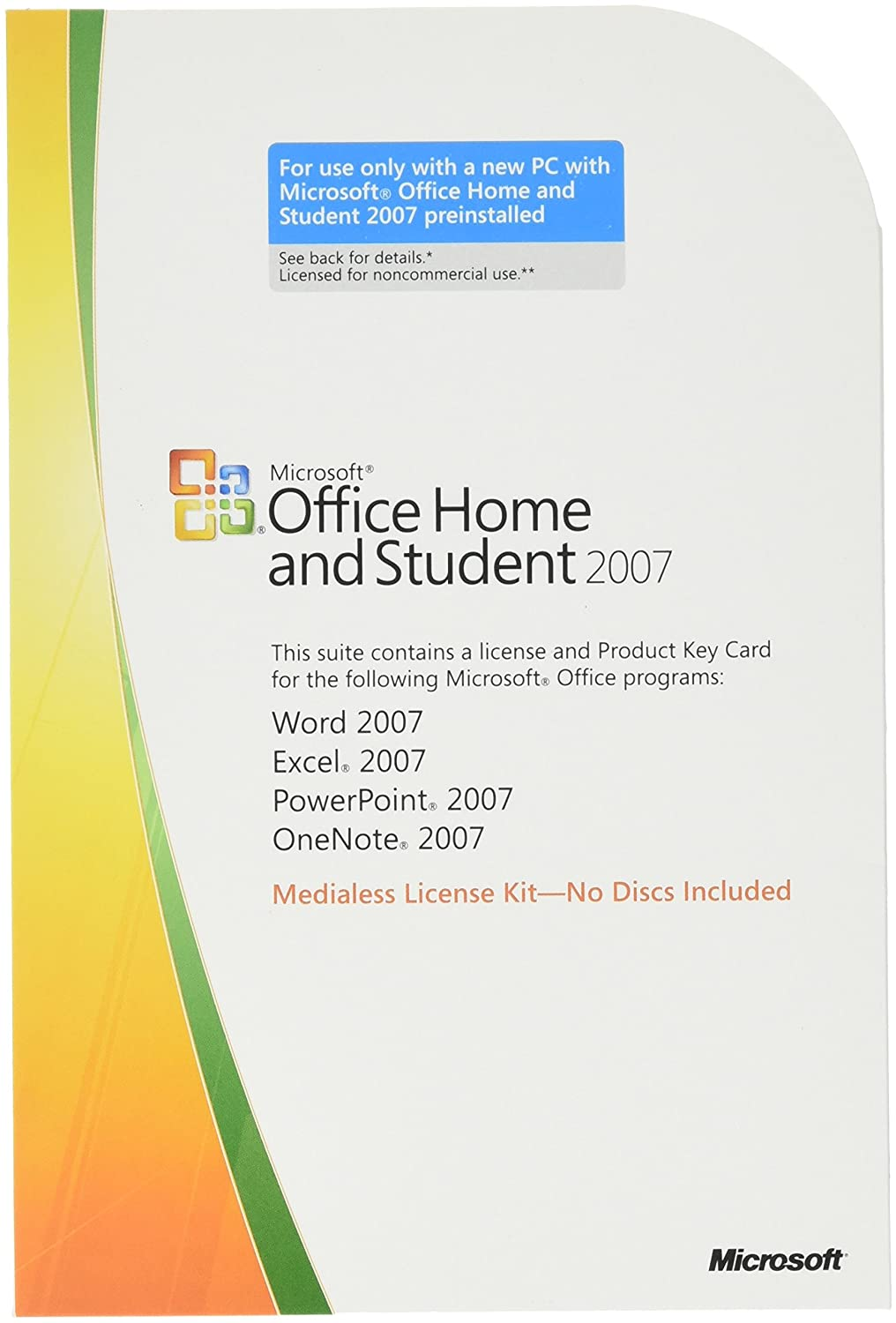Microsoft OEM Office Home and Student 2007, 1 pack