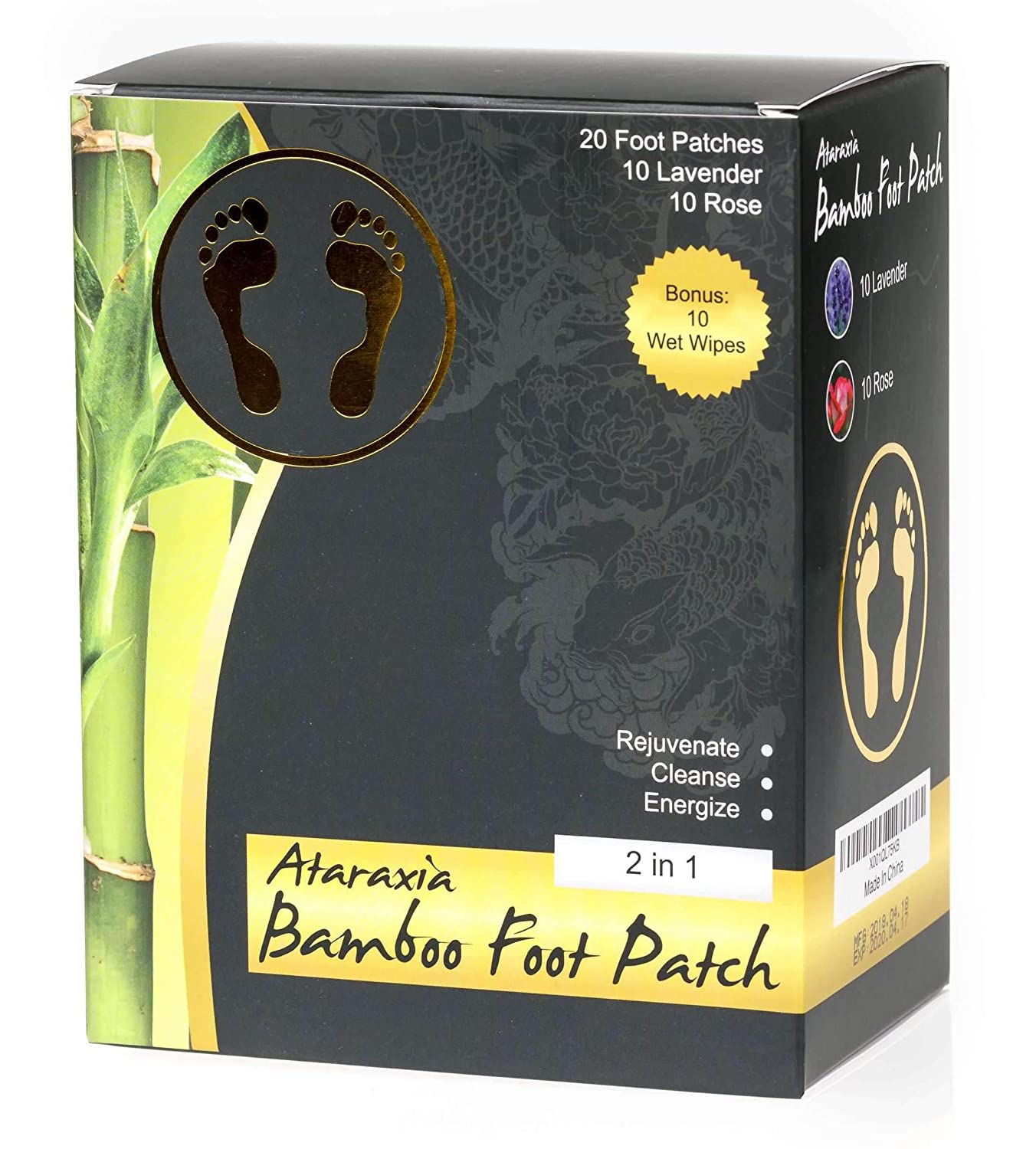 Foot Patch | Aroma Foot Pads | Bamboo Vinegar Foot Patch | Premium Organic Foot Patches | Sleep Better |...
