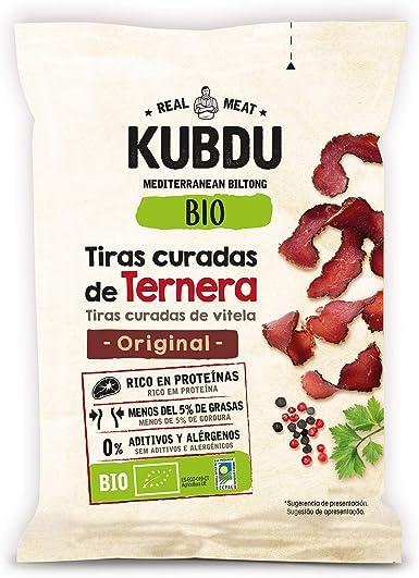 Noel Kubdu Biltong - Tiras Curadas de Ternera Bio, 25 g ...