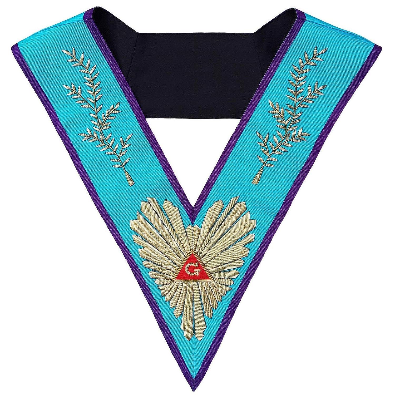 Bricks Masons Masonic Memphis Misraim Worshipful Master Collar 手刺繍   B07J3HQ2S3
