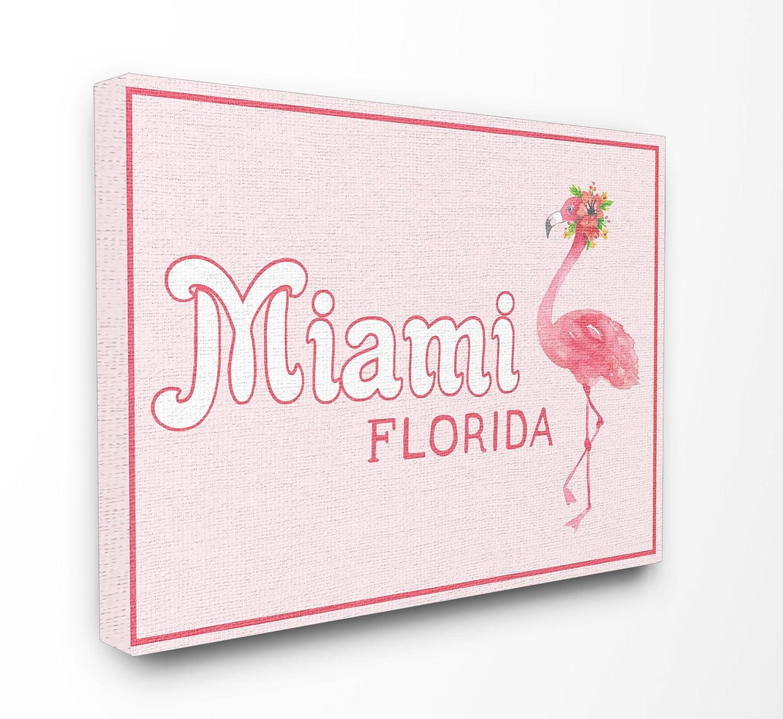 Stupell Industries Miami Florida Flamingo XXL gedehnt Art Wand, Stolz Made in USA, Leinwand, Mehrfarbig, 76,2 x 3,81 x 101,6 cm B0762SZLMB   Sale Outlet