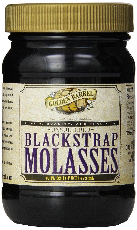 Golden Barrel Blackstrap Molasses, 16 Oz. Wide Mouth (12/16 fl. oz. Wide Mouth Case)