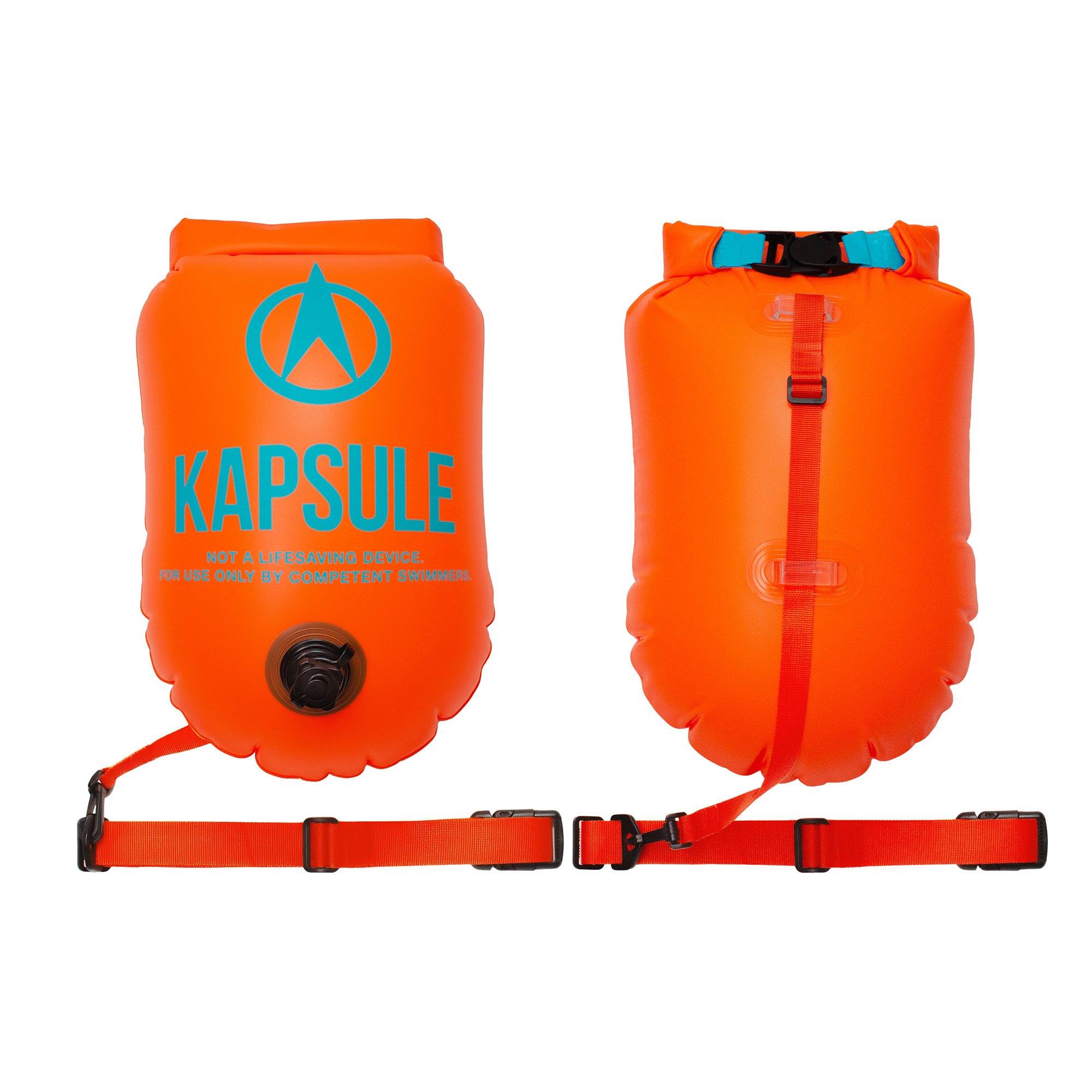 KAPSULE Swim Buoy (NEON 20L Orange) - Personal Swimming Float and Dry Bag by KAPSULE (Image #2)