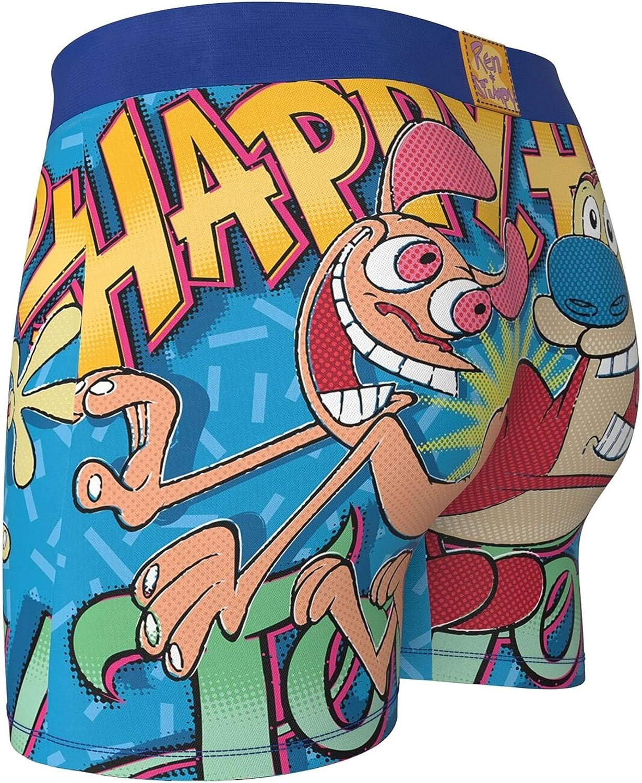 Ren /& Stimpy Happy Happy Joy Joy Mens Boxer Briefs