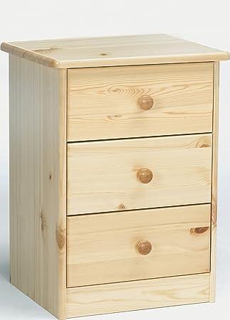 Erst-Holz® 90.20-K03 Elke Nachttisch Kiefer massiv 3 Schubläden ...