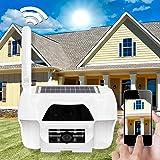 Solaire WiFi WLAN HD Caméra de surveillance intérieur et extérieur étanche avec cellule solaire avec fonction enregistrement 1Mpx 16Go Capteur PIR