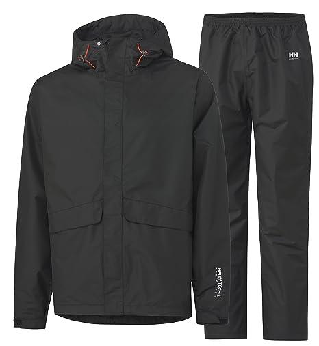 Helly Hansen 70627/_990-3XL Waterloo Veste et pantalon pluie Taille 3XL Noir