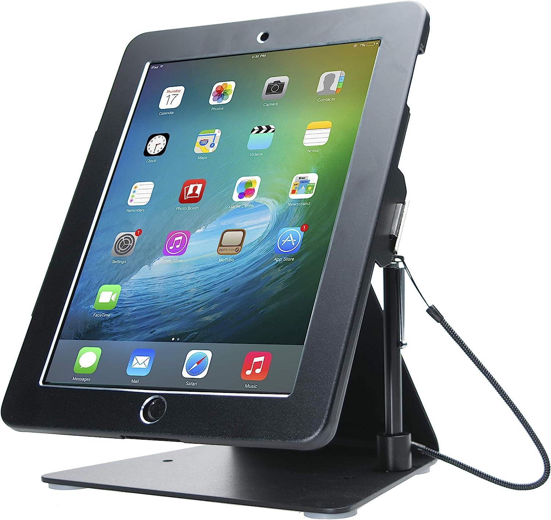 CTA Digital: Desktop Anti-Theft iPad Stand for iPad Air iPad Pro 9 7 iPad Gen 6 (2018) iPad Gen 5 (2017) iPad (Gen 2-4) Compatible with Headphone Jack Credit Card Readers & More, Black