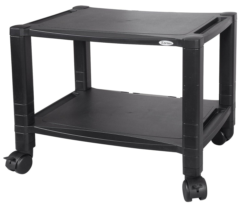 Kantek 2-Shelf Under-Desk Mobile Printer Stand, 17