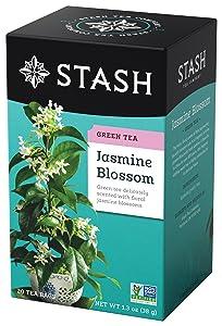 Stash Tea Jasmine Blossom Green Tea 20 Count Box of Tea Bags in Foil (Pack of 6)