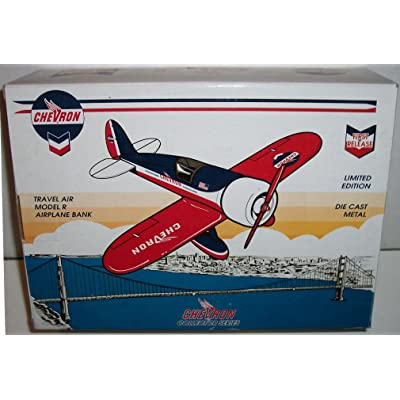 Chevron Collector Series - Travel Air Model R Airplane Bank Limited Edition Die Cast Metal Airplane Bank: Toys & Games