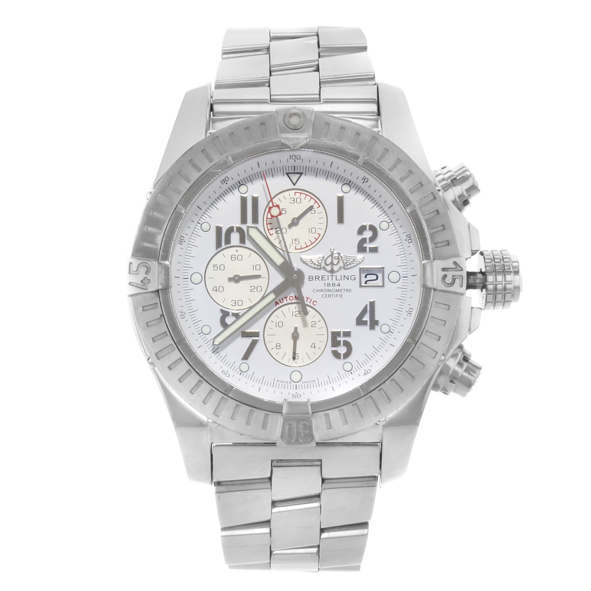 Breitling Super Avenger A1337011/A699-135A Steel Automatic Men's Watch(Certified Pre-owned)