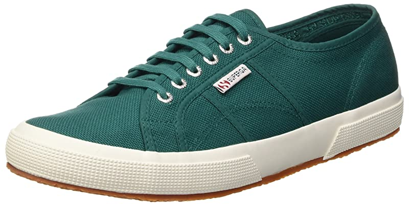 Superga 2750 Cotu Classic Sneakers Low-Top Unisex Damen Herren Grün (Green Teal)