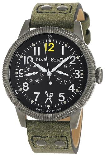 Marc Ecko Reloj Análogo clásico para Hombre de Cuarzo con Correa en Cuero E14541G1: Marc Ecko: Amazon.es: Relojes