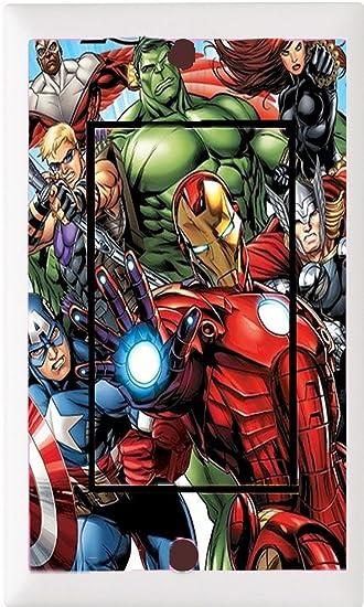 Got You Covered Framed Marvel Avengers Bedding Bathroom Light Switch Cover  Plate (1x Rocker)