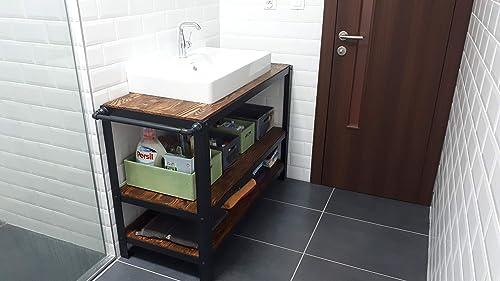 Industrielle Badezimmer Kabinett Unter Waschbecken Kabinett