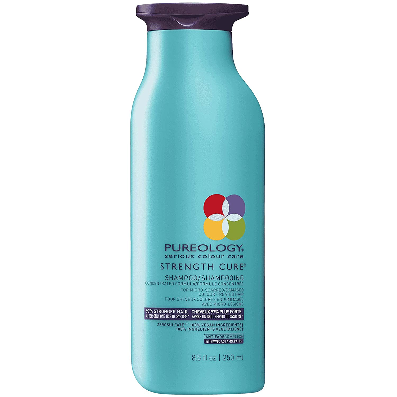 Pureology | Strength Cure Strengthening Shampoo | For Damaged, Color Treated Hair | Sulfate-Free | Vegan